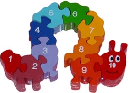 Number Caterpillar Puzzle